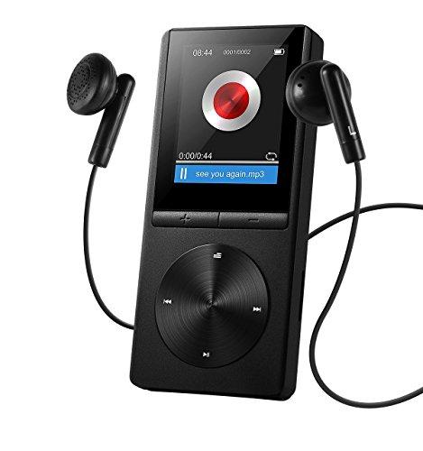 Reproductor de MP3 8GB de VicTsing, Portátil y Brazalete Exclusivo Deportivos, FM Radio, Apoya Tarjeta de Memoria hasta 64GB (Negro)