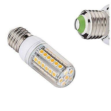 YangR* 1 pcs E27 7W 49x SMD 5050 450-550LM 2700-3500/6000-6500K Warm Weiß/Weiß Mais Lampen 220V AC , cool white-360° Dusk To Dawn Glühbirne Adapter