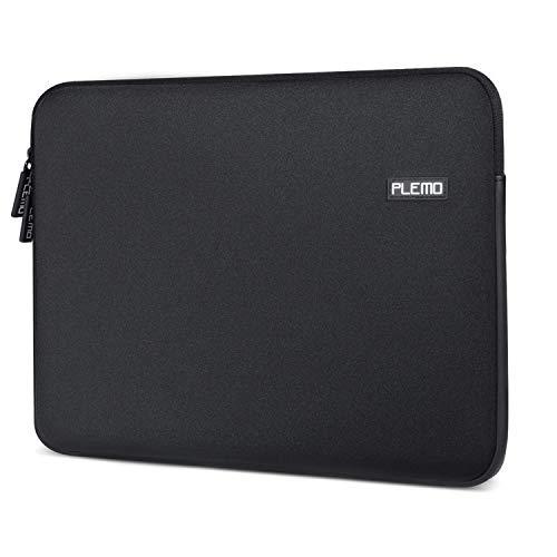 Plemo Laptop Hülle Sleeve Schutzhülle Neopren Laptoptasche für 13-13,3 Zoll Laptop/MacBook Air/Pro Retina Bildschirm Ultra Notebook Computer Schwarz