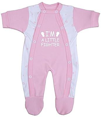 BabyPrem Bebé Prematuro Pijama Mameluco Ropa de Algodón Niñas Niños Little Fighter 32-50cm