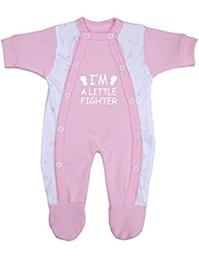 BabyPrem Frühchen Frühgeborene Baby Kleidung Schlafanzüge Strampler Kleine Kämpfer 32 - 50cm