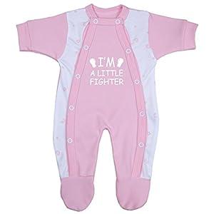 Babyprem Bebé Prematuro Pijama Mameluco Ropa de Algodón Niñas Niños Little Fighter 32-50cm 3