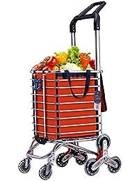 Klappbar Einkaufstrolleys Shipping Trolley Einkaufswagen Treppensteiger Mit 2 Rollen Mit Deckel Bis 40kg Belastbar Teleskopgriff Einkaufstrolleys Einkaufskörbe & -taschen
