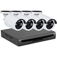 Kit Système de Surveillance sans Fil,Système de Sécurité pour la Maison EMAX, 960p 4pcs Caméra Bullet Plus NVR,Vision Nocturne, Détection de Mouvement,Systeme de Video Surveillance (sans Disque Dur)