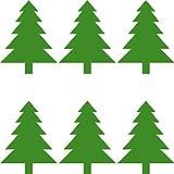 Tannenbäume 8,5cm Aufkleber Tanne Baum die cut Tattoo Wandtattoo Auto Fenster Spiegel Deko Folie Weihnachten (6)