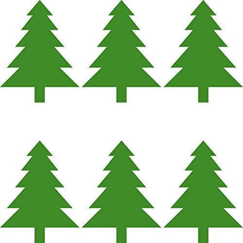 Tannenbäume 8,5cm Aufkleber Tanne Baum die cut Tattoo Wandtattoo Auto Fenster Spiegel Deko Folie Weihnachten (6) Weihnachten Spiegel
