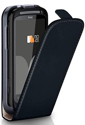 MoEx® Flip Case mit Magnetverschluss [Rundum-Schutz] passend für HTC 10 | 360° Handycover aus feinem Premium Kunst-Leder, Schwarz