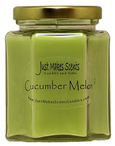 Frische Gurke Melone Kerze (Just Makes Scents Nur Macht Scents Cucumber Melon Duft Blended Soja Kerze, Grün)