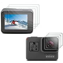 [3pcs] Deyard GoPro Hero 5 Pantalla LCD protector de la pantalla y la lente de la película del protector para GoPro héroe de la cámara 5 Acción Negro