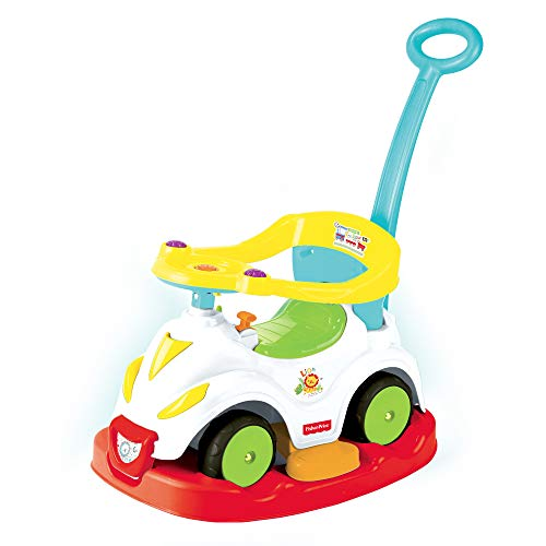 Grandi Giochi- Macchina 4 in 1 Fisher Price, Multicolore, GG01812
