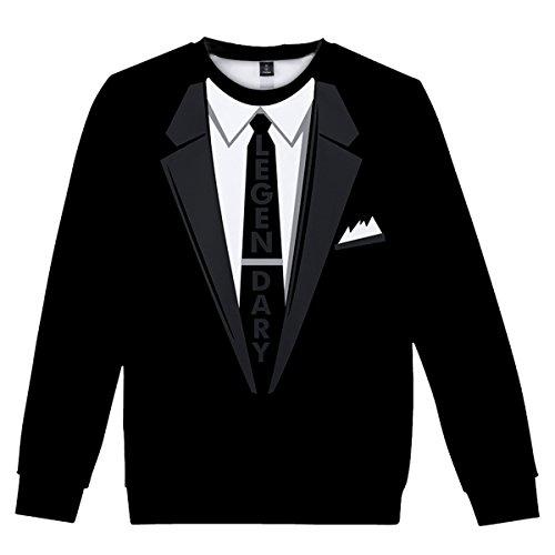 CTOOO 2018 Neuer Anzug Lustige Gefälschte Krawatte 3D Digitaldruck Herren Hoodie Sweatshift Kapuzen Pullover Loose Fit