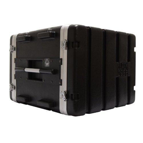 BLACK CASE BCABS8U - ESTUCHE CON SOPORTE RACK PARA EQUIPO DE AUDIO DE ABS (8U)  COLOR NEGRO