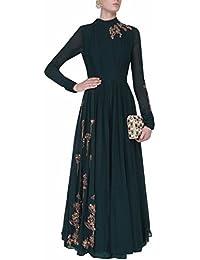Special Mega Sale Festival Offer C&H Dark Green Georgette Semi-Stitched Salwar Suits