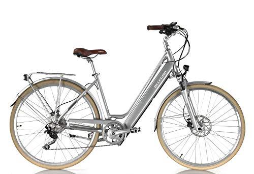 Allegro Invisible City Premium E-Bike Damen 28 Zoll, City Elektrofahrrad, Pedelec E-Fahrrad, Silber