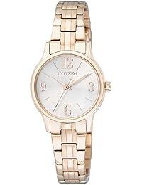 Citizen Damen-Armbanduhr Analog Quarz Edelstahl beschichtet EX0293-51A