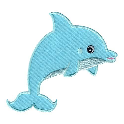 PatchMommy Delfín Parche Termoadhesivo - Apliques Bordados para Niños