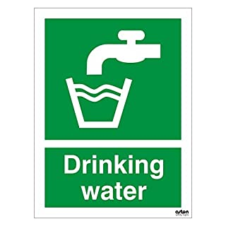 Drinking water sign. 150mm x 200mm (Self Adhesive Sticker)