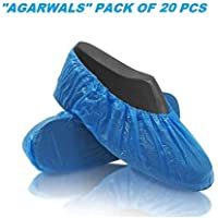 Agarwals™ Disposable Safety Shoe Cover 30 Micron Anti-Slip Water Resistant Boot Protector for Hospital, Labs, Workplace…