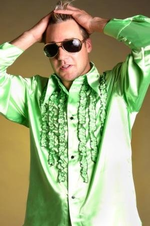 rhemd 70er Jahre Hemd grün (Large) ()