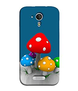 PrintVisa Designer Back Case Cover for Micromax Canvas HD A116 :: Micromax A116 Canvas HD (Abstract Illustration Colorful Decorative Concept Modern Paint)