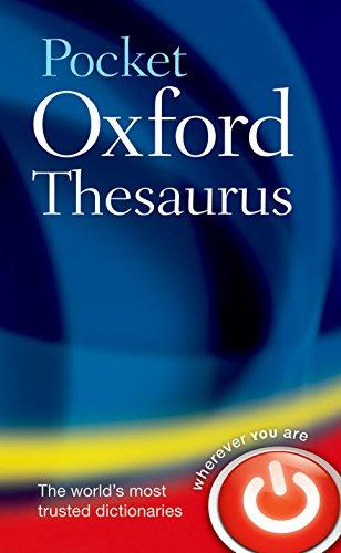 Pocket Oxford Thesaurus por Oxford Dictionaries