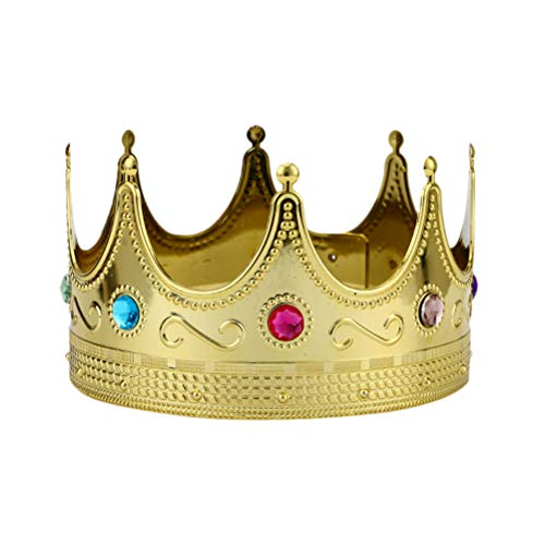 supvox Royal King Crown Hat Kostüm Kleid Up Set Party Cosplay Zubehör für Kinder Erwachsene (Golden)
