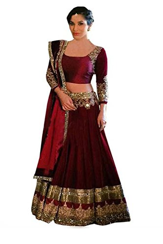 Maroon Color Designer Lahenga Choli