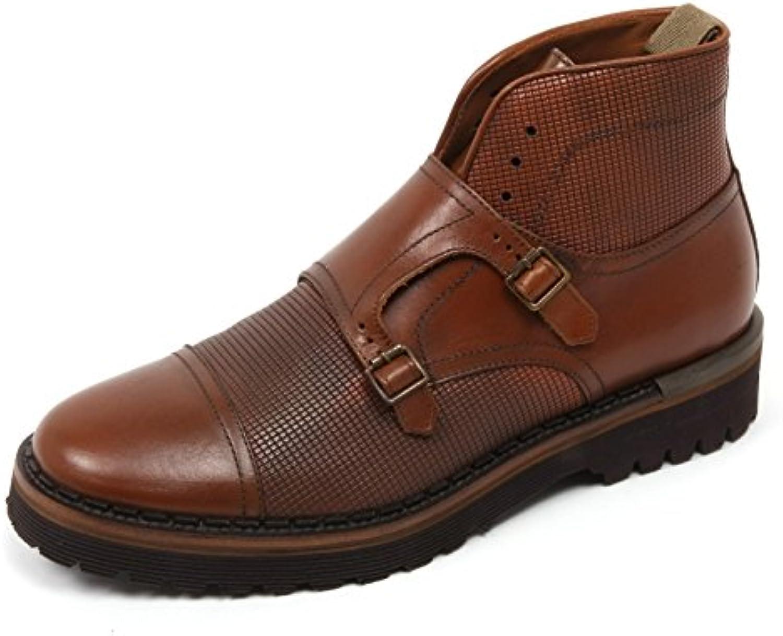 C2462 scarpa uomo BRIMARTS scarpe marrone chiaro fondo gomma boot shoe man [45]