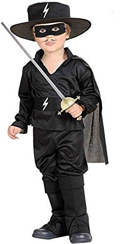 Widmann-WDM4898K Kostüm für Mädchen, Schwarz, ()