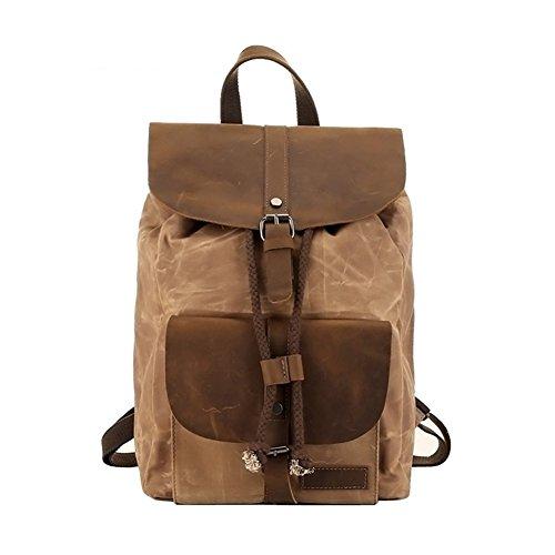 b9464646f8 Lifewit 14-15.6 Inch Leather Satchel Messenger Laptop Shoulder Bag Canvas  Briefcase (14 Coffee) QSLF210584CF