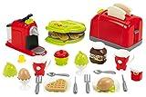 Ecoiffier 7600002647 Set Tostapane, Uova Cock, Piastra Waffel, Macchina Caffè con 33 Accessori