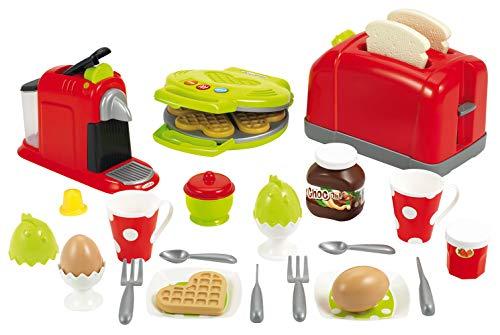 Jouets Ecoiffier - 2647 - Coffret toaster grand modèle + petit déjeuner pour enfants- 33 pièces - Dès 18 mois - Fabriqué en France