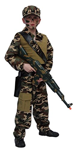 (Karneval-Klamotten Kostüm Soldat Kostüm Junge Karneval Armee Jungenkostüm Größe 152)
