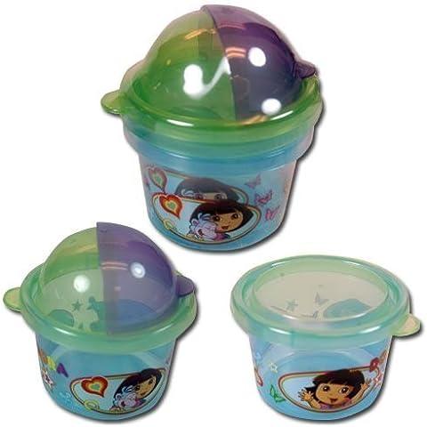 Dora The Explorer 2pk Snack Storage Containers Zak Paks by Disney