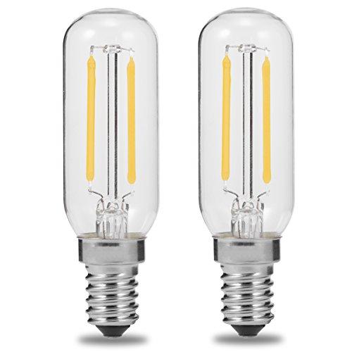 E14 T25 2W LED Leuchtmitte für Dunstabzugshaube, 250 lm, 40 W Glühlampe Ersatz, Luohaoshi Edison-Glühbirne, Tageslichtweiß, 6000 K, nicht dimmbar, 2 Stück