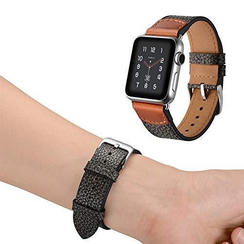 Uhrenarmband 38mm 42mm, Steinbruch Lederarmband Ersetzt Kompatible Apple Watch Serie 4 3 2 1,38mm -