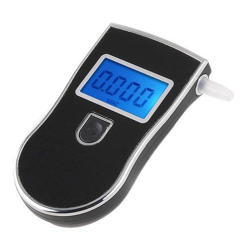 Festnight Professionell Alkoholtester Polizei Alkohol Sensor Digital Atemalkoholtester Alkoholmessgerät Atemalkohol Prüfer Blaue Hintergrundbeleuchtung LCD-Display