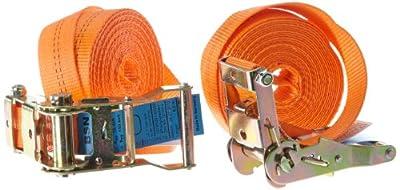 Braun 1000-1-600/VE2 Spanngurt 2000 daN, einteilig, Farbe orange, 6 m Länge, 35 mm Bandbreite, mit Ratsche