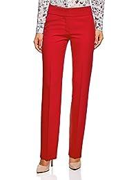 oodji Ultra Mujer Pantalones Clásicos con Pinzas