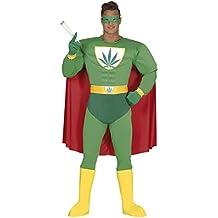 Guirca - Disfraz adulto superhéroe marijuana, Talla 52-54 (88276.0)