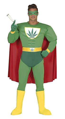 Kostüm Joint Weed - Guirca-Kostüm Erwachsene Marijuana Superheld Größe 52-54(88276.0)