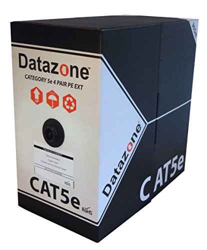Datazone CAT5e Solid Outdoor/Externe Kabel 305 m Box schwarz 100% Kupfer - Outdoor-cat5e-kabel