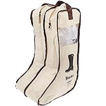 Ducomi® Hurlingham - Organizador Botas con Doble Cremallera Y Ventana Transparete (Beige)