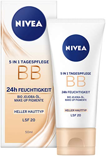 Nivea Essentials BB Cream 5in1 heller Hauttyp im 1er Pack (1 x 50 ml), getönte Tagescreme,...