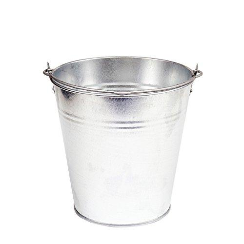 Eimer verzinkt 10 L Wassereimer Blecheimer Eimer Metall Dekoeimer