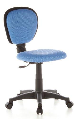 Schwarze Kinder-schreibtisch (hjh OFFICE 670130 Kinderschreibtischstuhl KIDDY TOP Stoff Hellblau Kinder-Drehstuhl ergonomisch, höhenverstellbar)