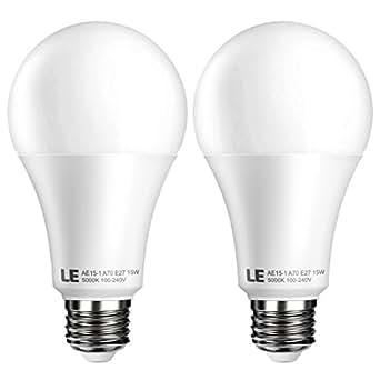 le 2er e27 led lampen ersetzt 100w gl hbirne superhelle led birnen 15w a70 1500lm kaltwei. Black Bedroom Furniture Sets. Home Design Ideas