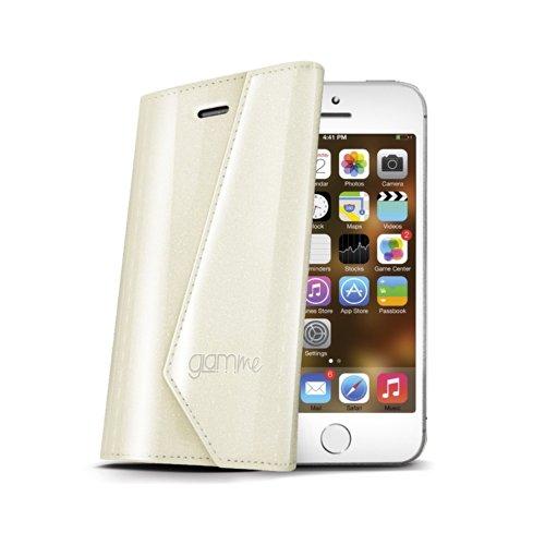 Celly Lady Wally Glamme Case Schwarz für Apple iPhone Bianco