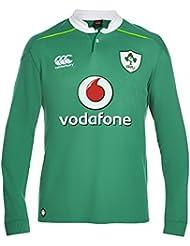 Canterbury–Camiseta de Irlanda Home Rugby para hombre clásico de manga larga–Bosphorous grande, color verde