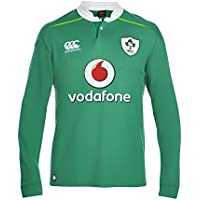 Canterbury Ireland Home - Camiseta clásica de la primera equipación de selección irlandesa de rubgy de la temporada 2016/2017, de manga larga y color verde (Bosphorous Green), para hombre, hombre, Ireland Home Classic, Bosphorous Green, XXXL
